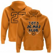 Detská oranžová mikina Toto je môj klub 33005