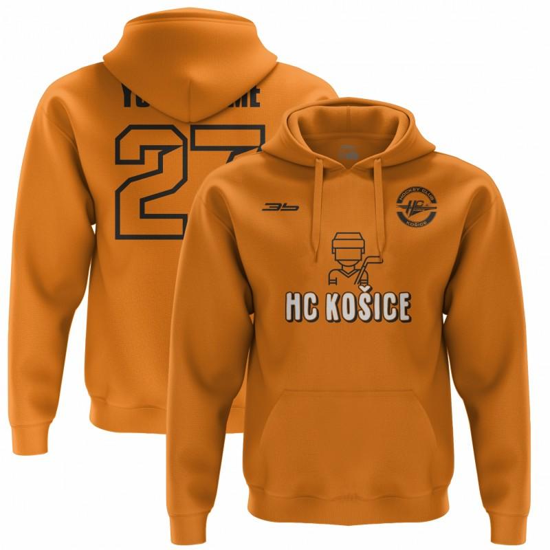 Detská oranžová mikina Hokejista 33001