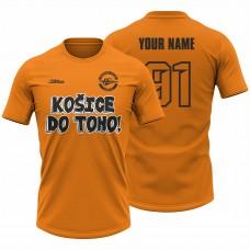 Detské oranžové tričko Košice do toho 23008