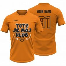 Detské oranžové tričko Toto je môj klub 23010