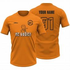 Detské oranžové tričko Hokejista 23006