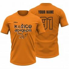 Detské oranžové tričko Hráč 23007