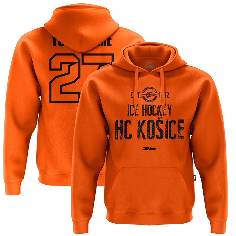 Dámska oranžová mikina s nápisom ICE HOCKEY 32009