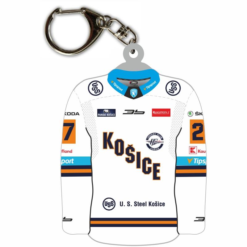 Prívesok dres HC Košice biely 51024