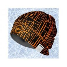 Športová čiapka čierno oranžová 41013