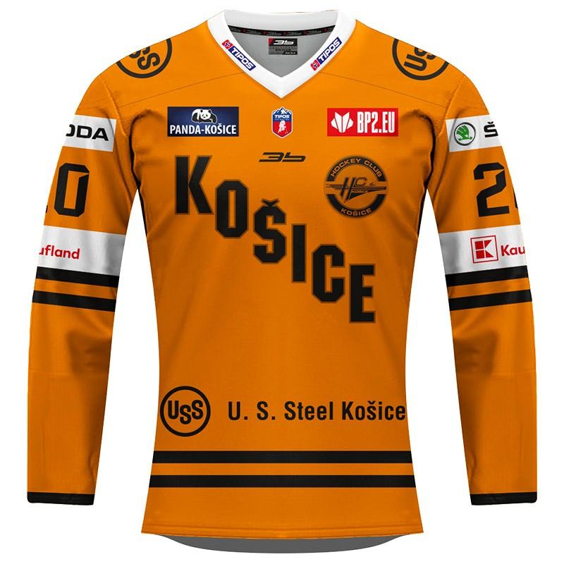 Dámsky dres HC Košice REPLICA oranžový 2020/2021 s reklamou 12004