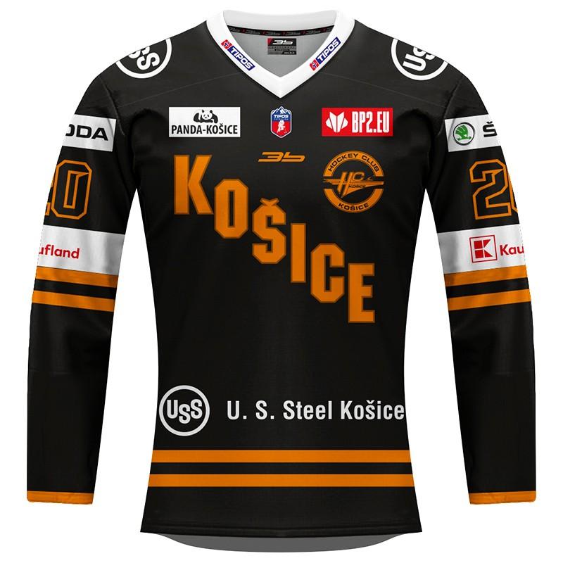 Dámsky dres HC Košice REPLICA čierny 2020/2021 s reklamou 12002