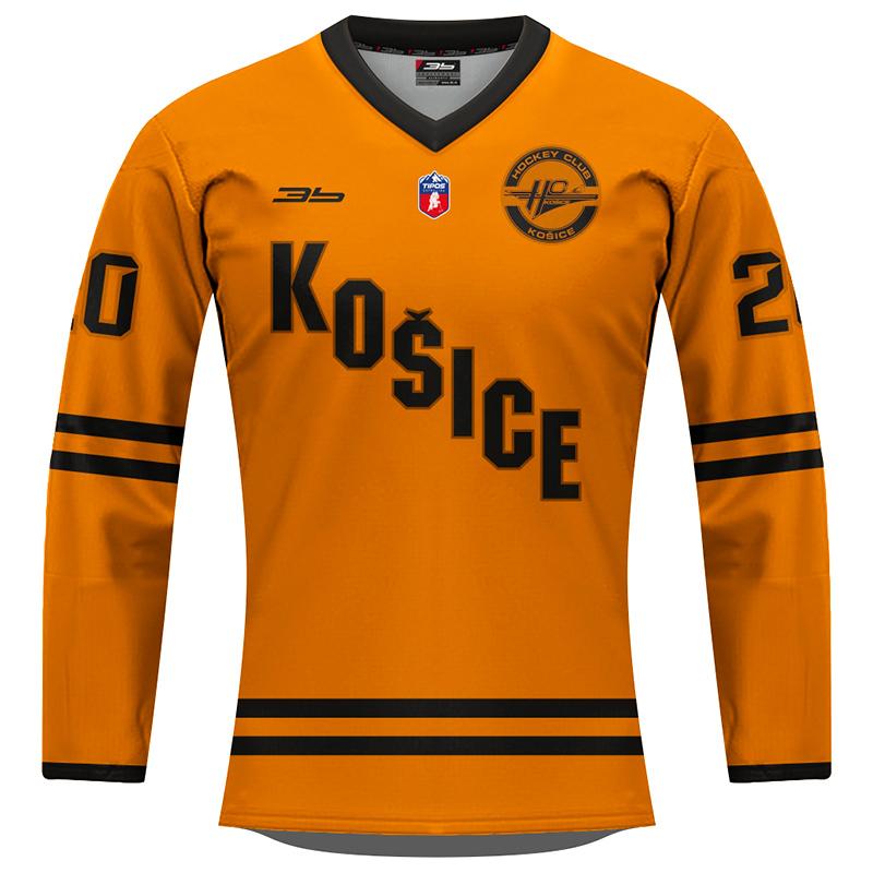 Dámsky dres HC Košice REPLICA oranžový 2020/2021 bez reklám 12003