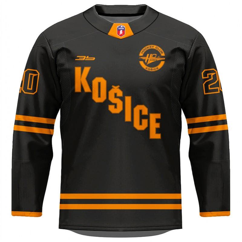 Dres HC Košice AUTHENTIC čierny 2020/2021 bez reklám 11001