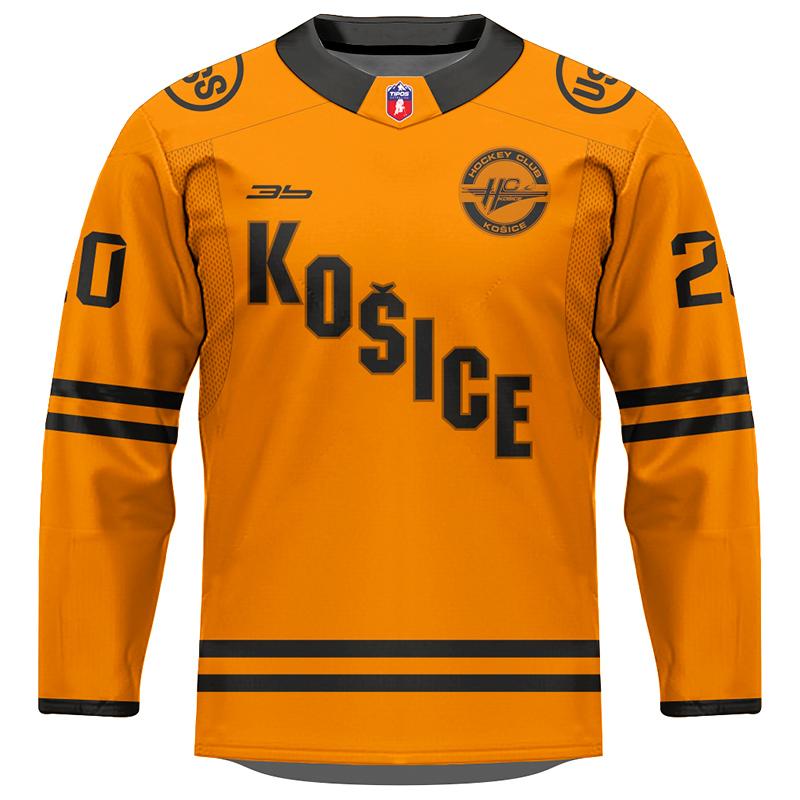 Dres HC Košice AUTHENTIC oranžový 2020/2021 bez reklamy 11005