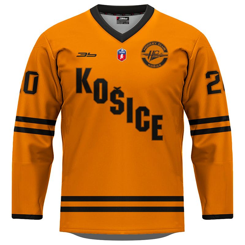 Detský dres HC Košice REPLICA oranžový 2020/2021 bez reklám 13002