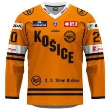 Dres HC Košice REPLICA oranžový 2020/2021 s reklamou 11008