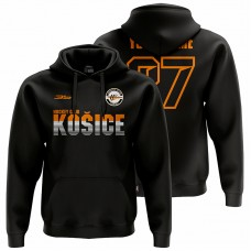 Pánska čierna mikina HC Košice s nápisom Košice 31004