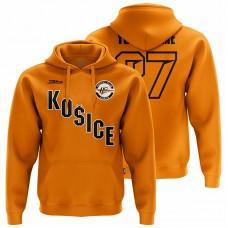 Pánska oranžová mikina HC Košice s nápisom Košice 31001