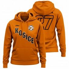 Dámska oranžová mikina s nápisom Košice 32006
