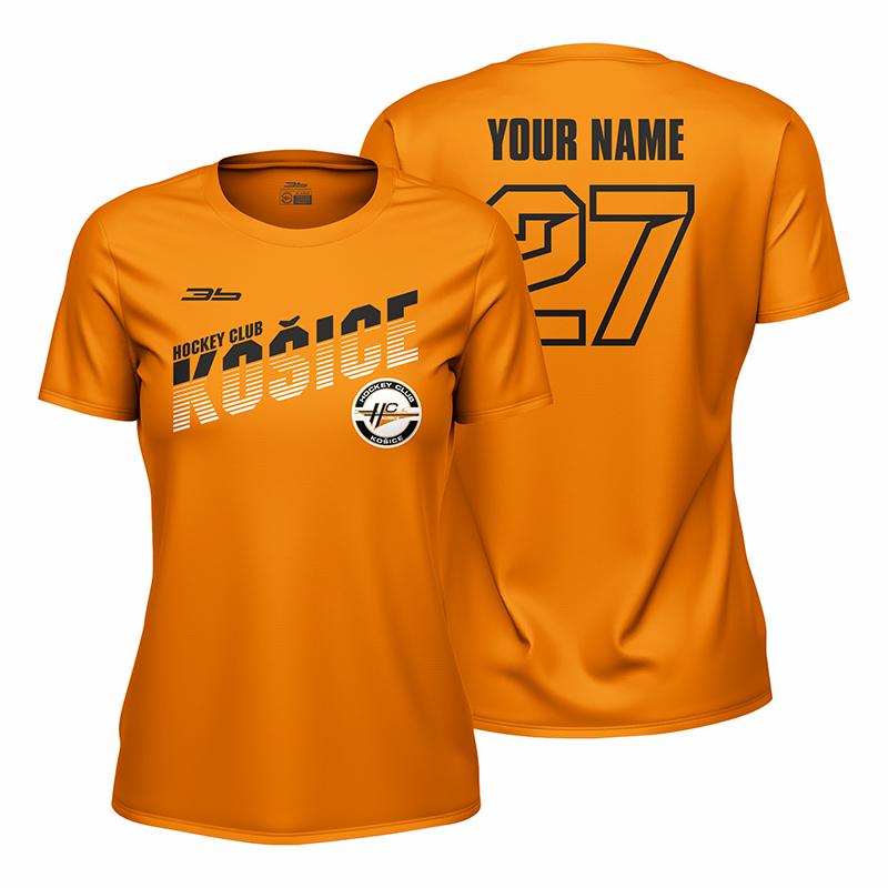 Dámske oranžové tričko HC Košice s nápisom Košice 22009