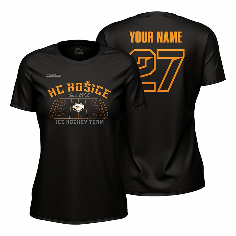 Dámske čierne tričko HC Košice Ľadová plocha 22003