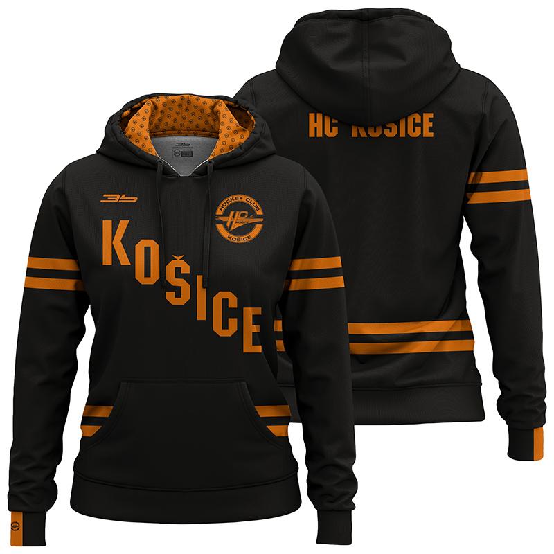 Dámska čierna mikina HC Košice 32002