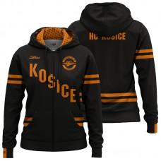 Dámska čierna mikna so zipsom HC Košice