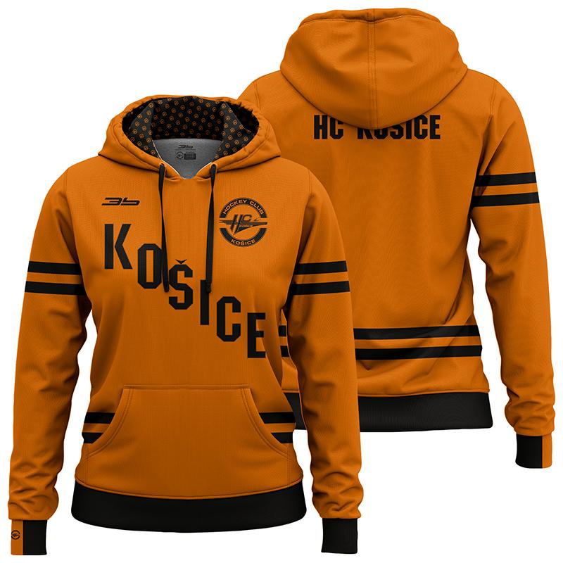Dámska oranžová mikina HC Košice 32005