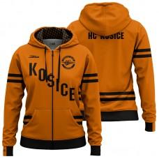 Dámska oranžová mikina so zipsom HC Košice
