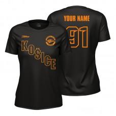 Dámske čierne tričko HC Košice