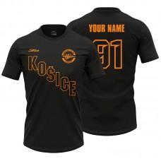 Pánske čierne tričko HC Košice 21014