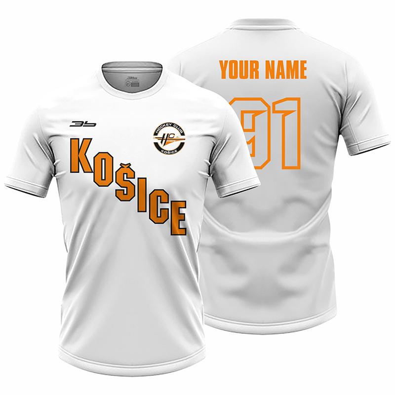Pánske biele tričko HC Košice 21015